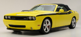 picture of Dodge Challenger, 2009, SRT, 426 Hemi, convertible, yellow/black, Mr. Norms