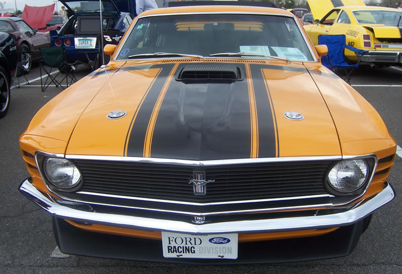 picture of Ford Mustang, 1970, Boss 302, hood scoop